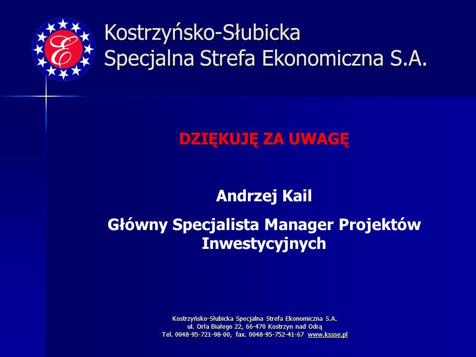 Główny Specjalista Manager Projektów Inwestycyjnych
