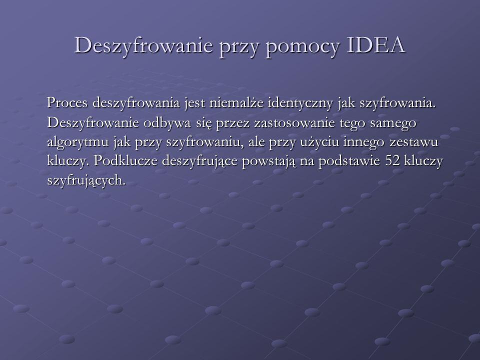 Deszyfrowanie przy pomocy IDEA