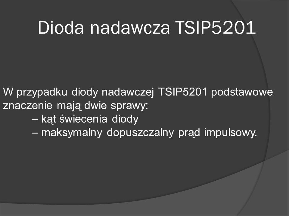 Dioda nadawcza TSIP5201 W przypadku diody nadawczej TSIP5201 podstawowe znaczenie mają dwie sprawy: