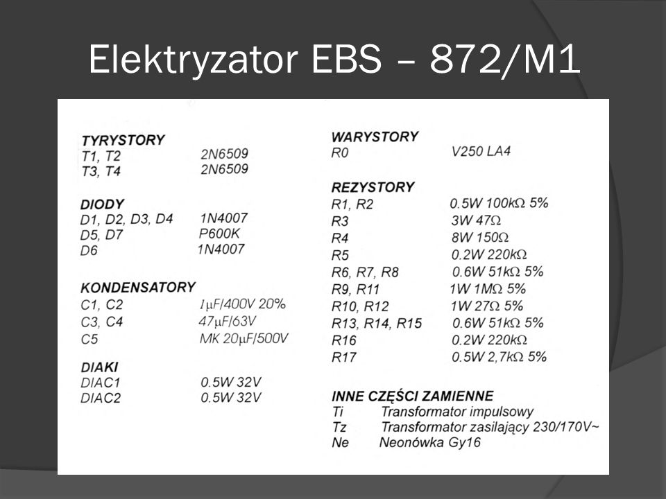 Elektryzator EBS – 872/M1