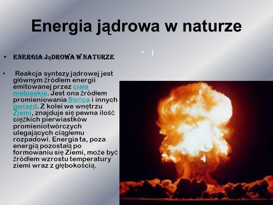 Energia jądrowa w naturze
