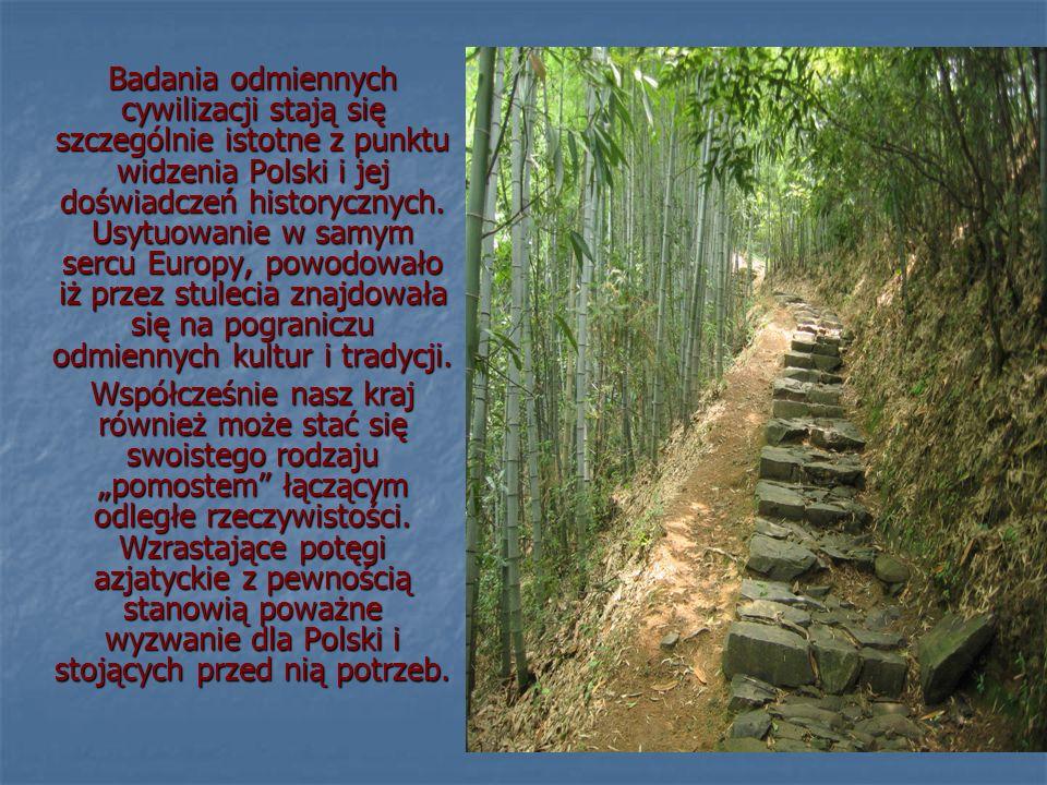 Badania odmiennych cywilizacji stają się szczególnie istotne z punktu widzenia Polski i jej doświadczeń historycznych. Usytuowanie w samym sercu Europy, powodowało iż przez stulecia znajdowała się na pograniczu odmiennych kultur i tradycji.