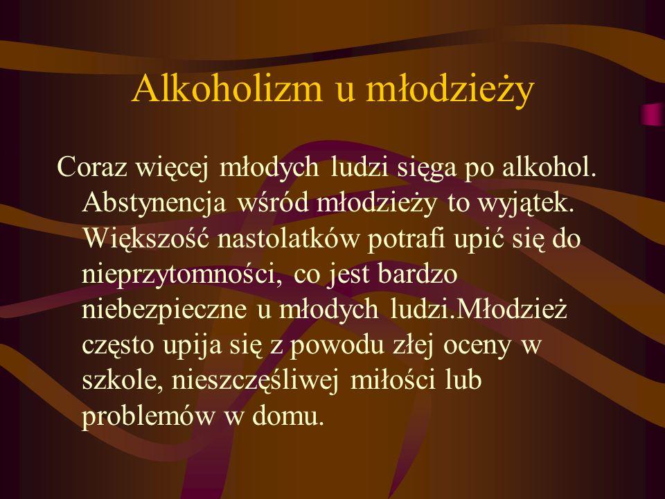 Alkoholizm u młodzieży