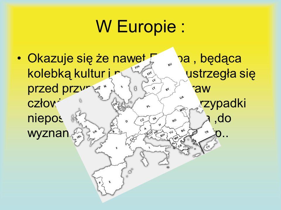 W Europie :