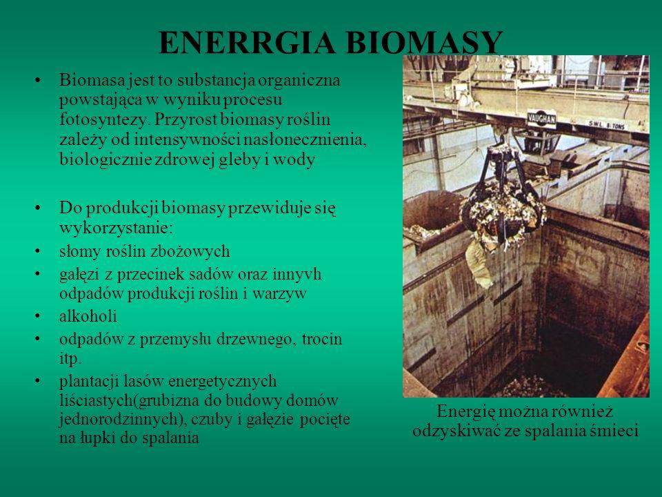 Energię można również odzyskiwać ze spalania śmieci