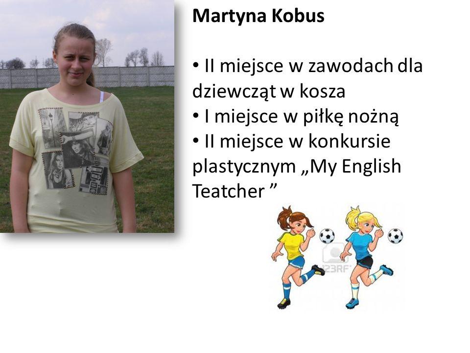 Martyna Kobus II miejsce w zawodach dla dziewcząt w kosza.