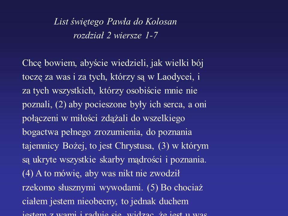 List świętego Pawła do Kolosan