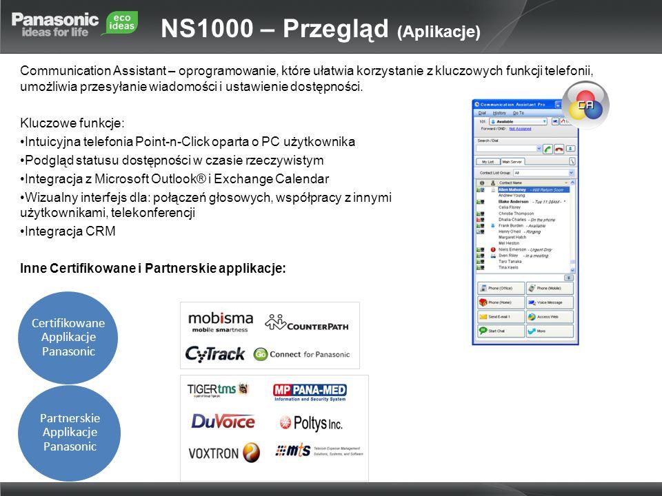 NS1000 – Przegląd (Aplikacje)