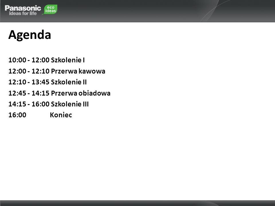 Agenda 10:00 - 12:00 Szkolenie I 12:00 - 12:10 Przerwa kawowa