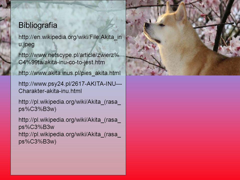 Bibliografia http://en.wikipedia.org/wiki/File:Akita_inu.jpeg