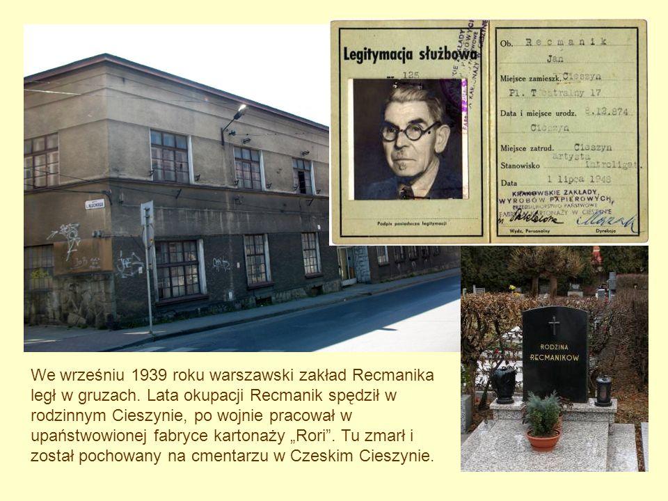 We wrześniu 1939 roku warszawski zakład Recmanika legł w gruzach