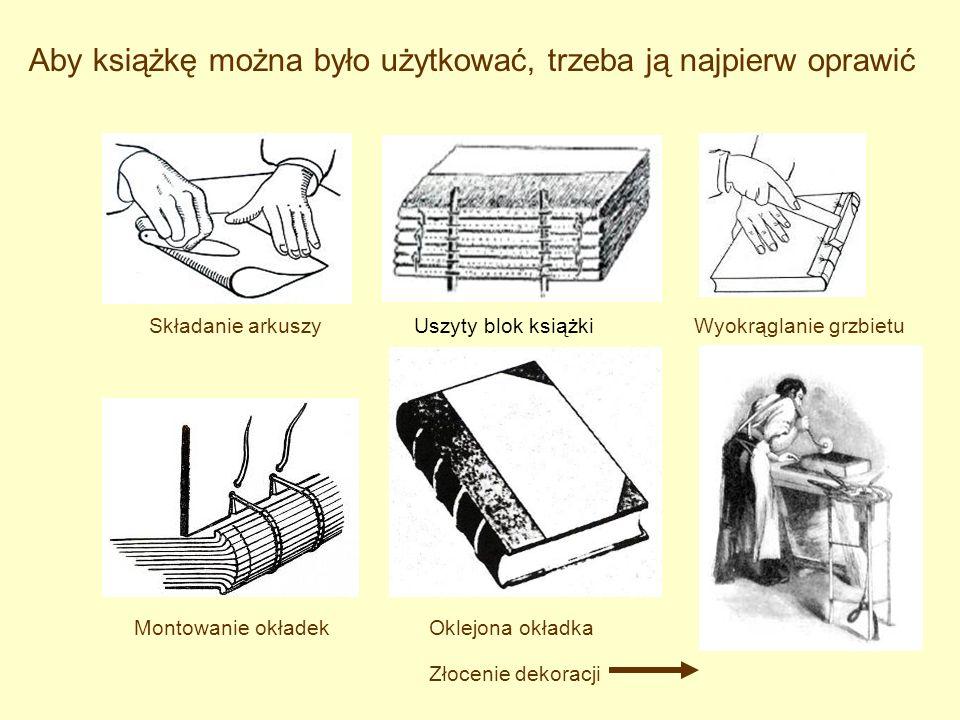 Aby książkę można było użytkować, trzeba ją najpierw oprawić