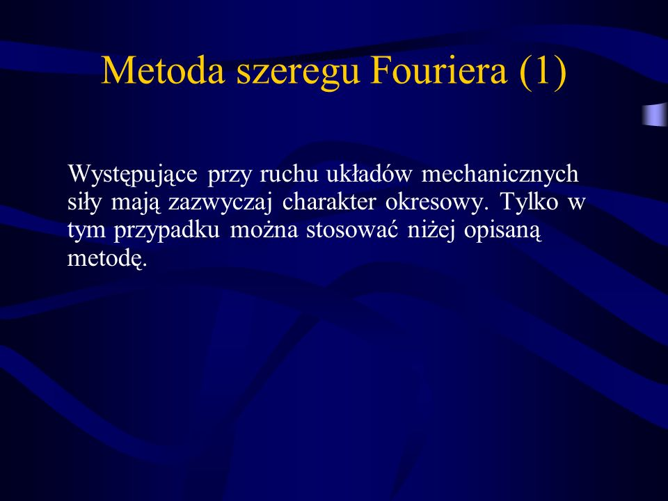 Metoda szeregu Fouriera (1)