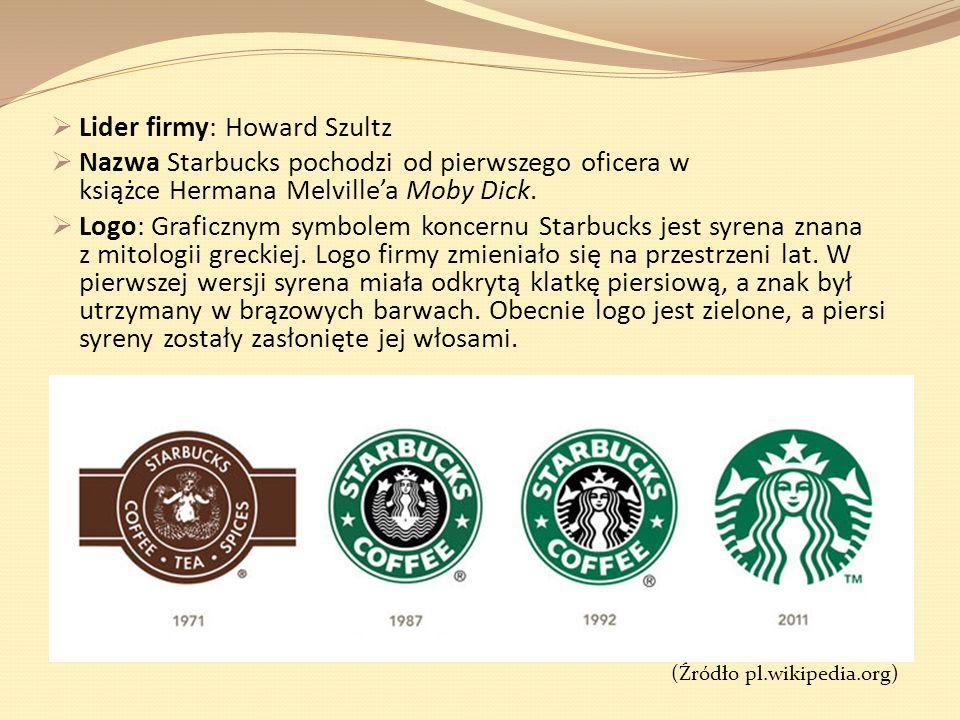 Lider firmy: Howard Szultz