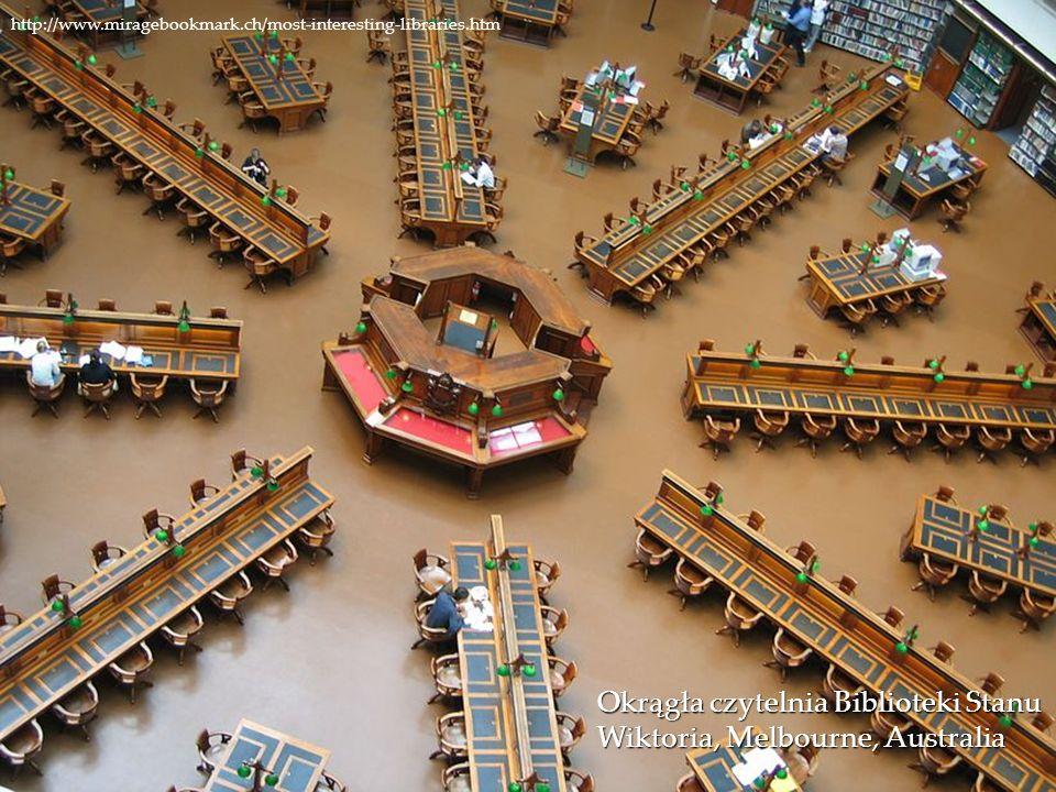Okrągła czytelnia Biblioteki Stanu Wiktoria, Melbourne, Australia