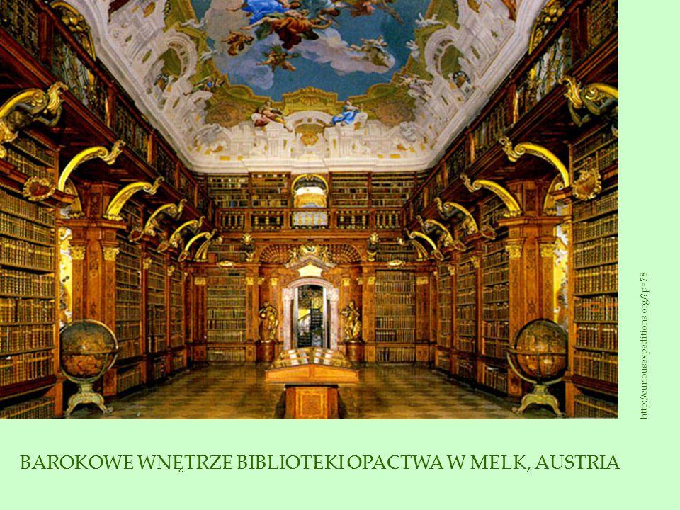 BAROKOWE WNĘTRZE BIBLIOTEKI OPACTWA W MELK, AUSTRIA