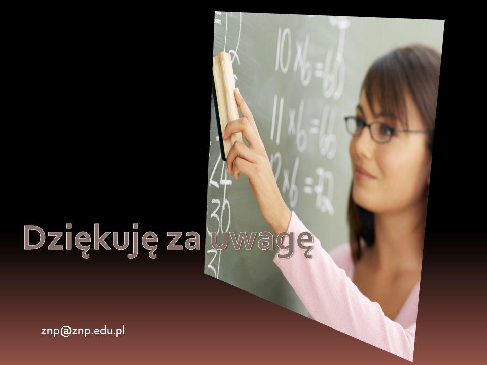 Dziękuję za uwagę znp@znp.edu.pl
