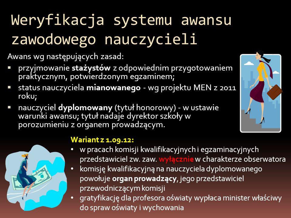 Weryfikacja systemu awansu zawodowego nauczycieli