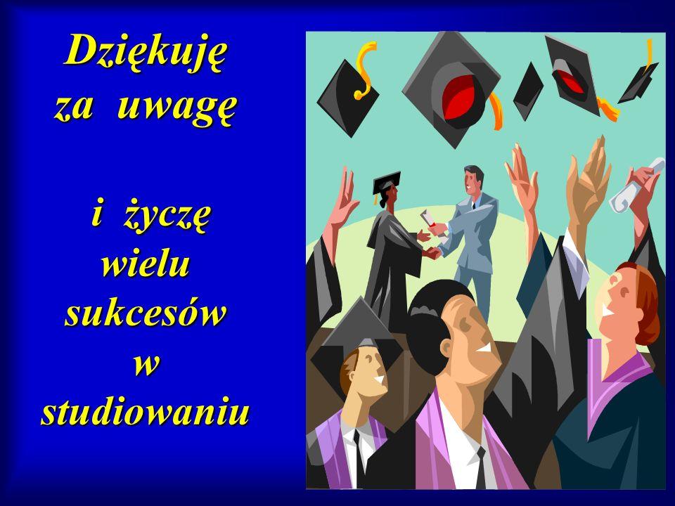 Dziękuję za uwagę i życzę wielu sukcesów w studiowaniu
