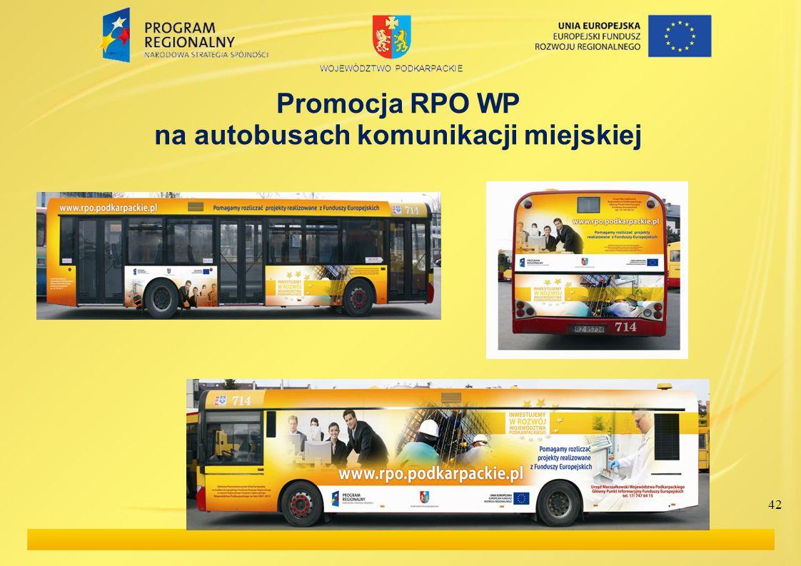 Promocja RPO WP na autobusach komunikacji miejskiej