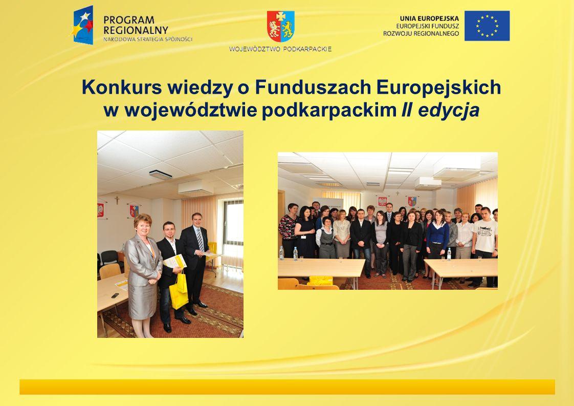 Konkurs wiedzy o Funduszach Europejskich w województwie podkarpackim II edycja