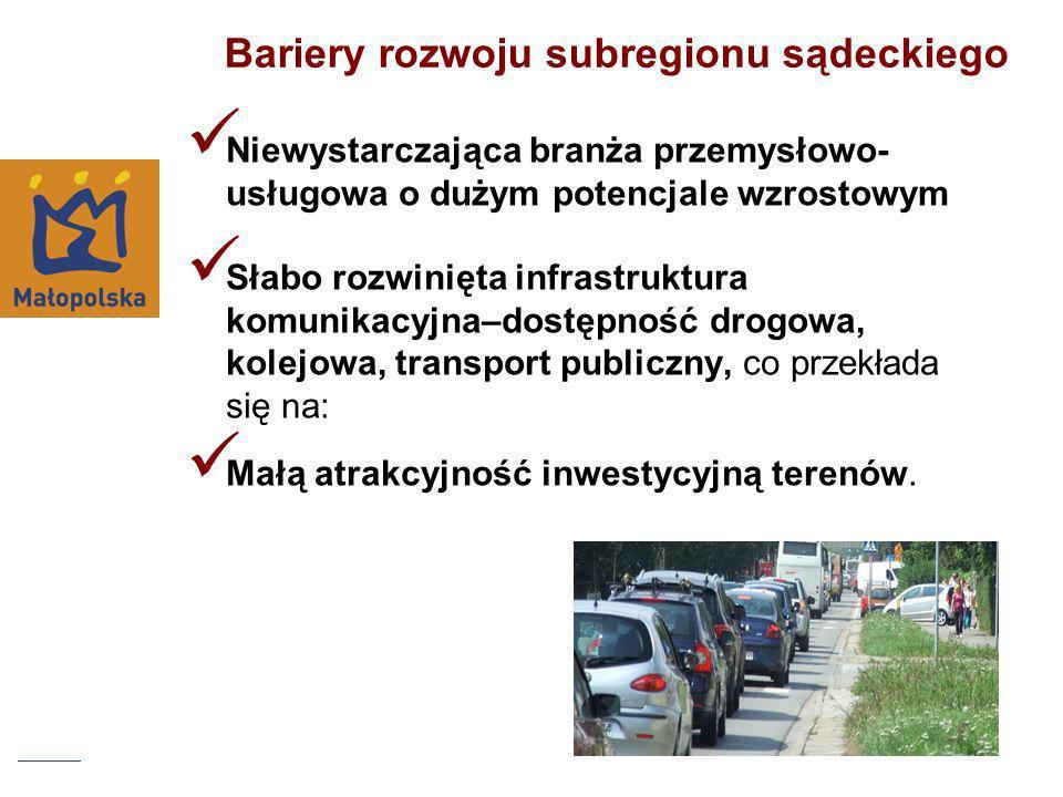 Bariery rozwoju subregionu sądeckiego