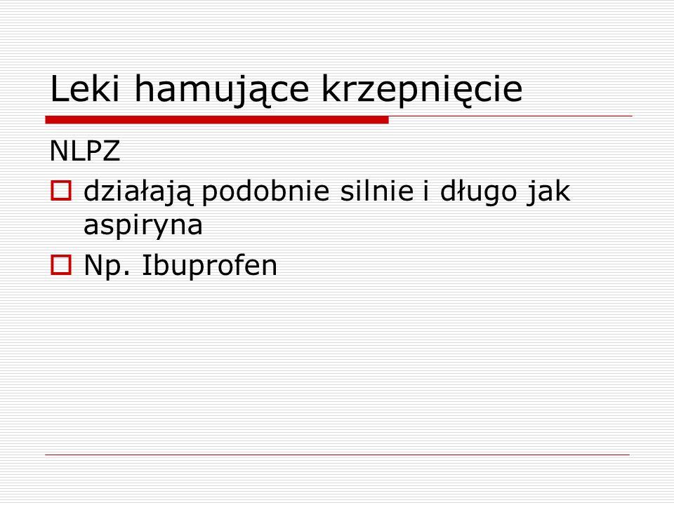 Leki hamujące krzepnięcie
