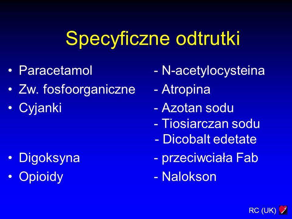 Specyficzne odtrutki Paracetamol - N-acetylocysteina