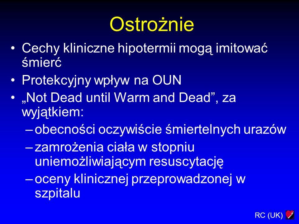 Ostrożnie Cechy kliniczne hipotermii mogą imitować śmierć
