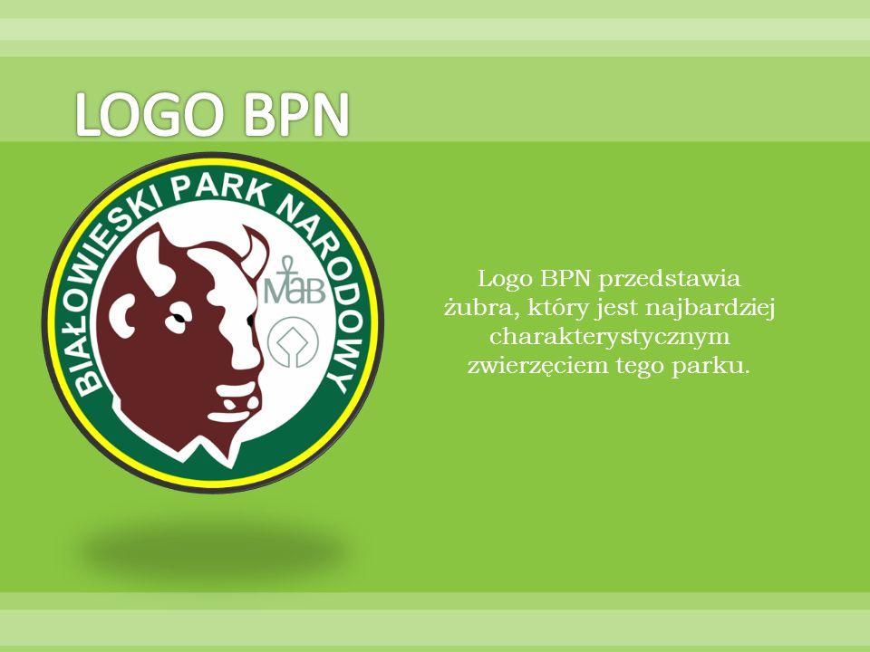 LOGO BPN Logo BPN przedstawia żubra, który jest najbardziej charakterystycznym zwierzęciem tego parku.