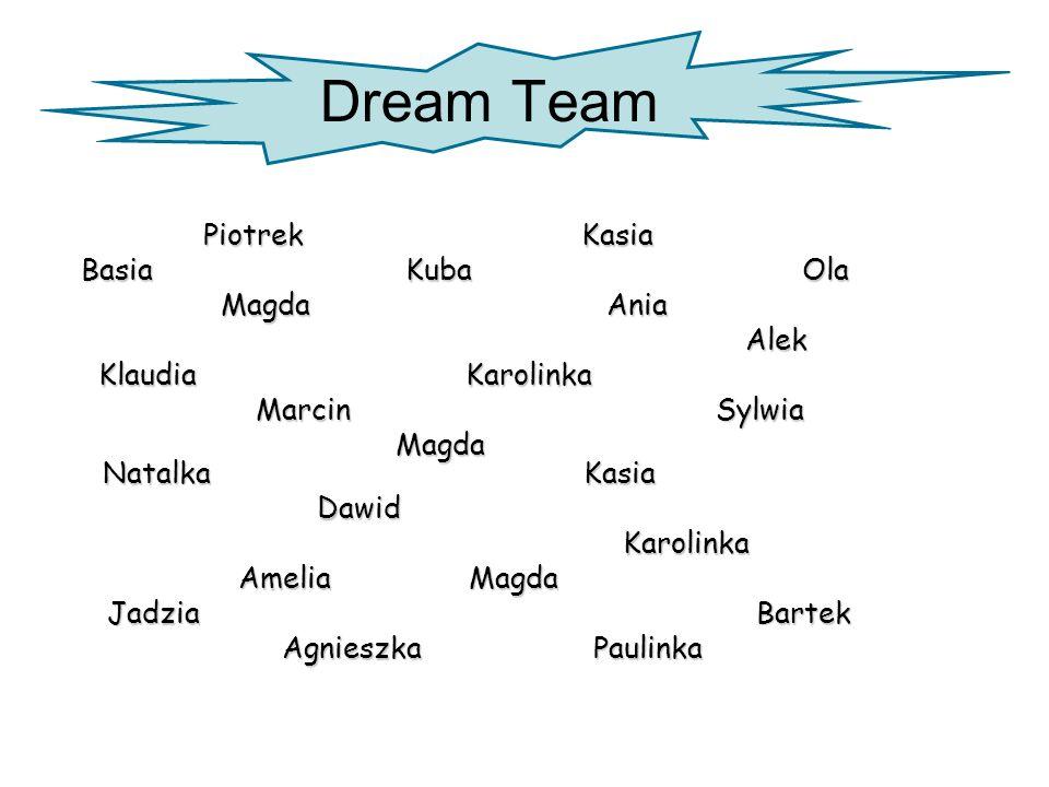 Dream Team Piotrek Kasia Basia Kuba Ola Magda Ania Alek