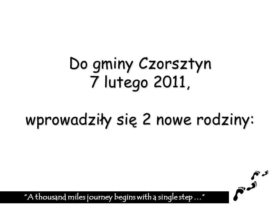 Do gminy Czorsztyn 7 lutego 2011, wprowadziły się 2 nowe rodziny:
