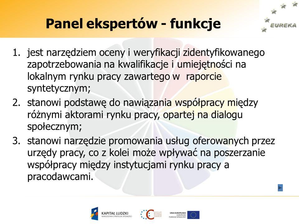 Panel ekspertów - funkcje