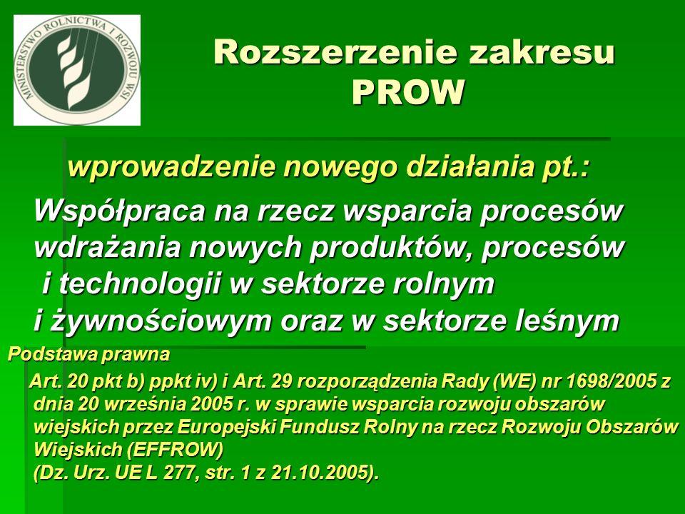 Rozszerzenie zakresu PROW