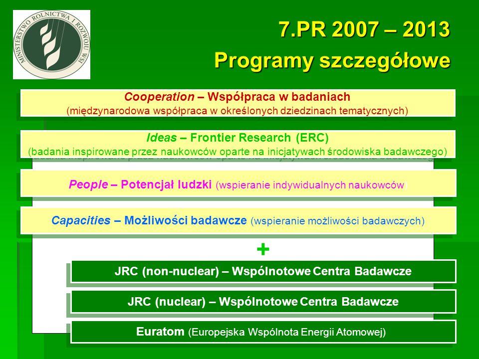 + 7.PR 2007 – 2013 Programy szczegółowe