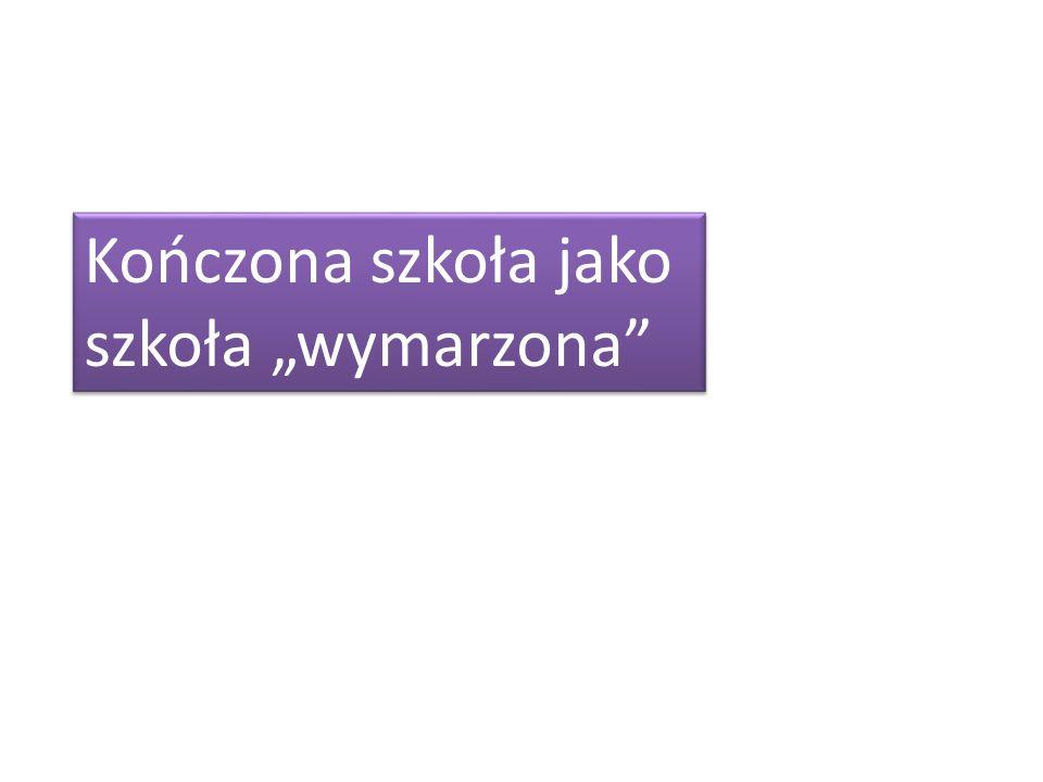 """Kończona szkoła jako szkoła """"wymarzona"""
