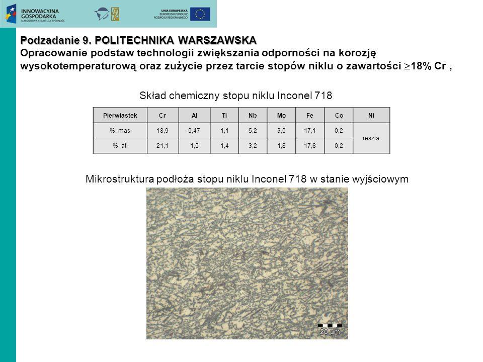 Skład chemiczny stopu niklu Inconel 718