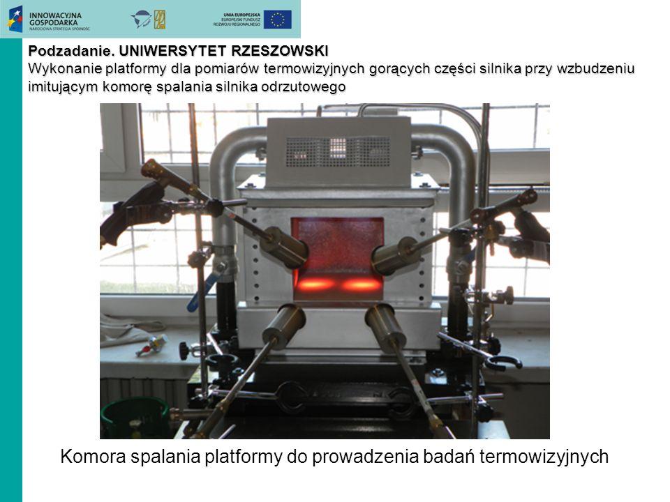 Komora spalania platformy do prowadzenia badań termowizyjnych