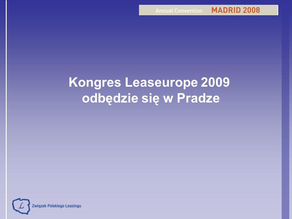 Kongres Leaseurope 2009 odbędzie się w Pradze