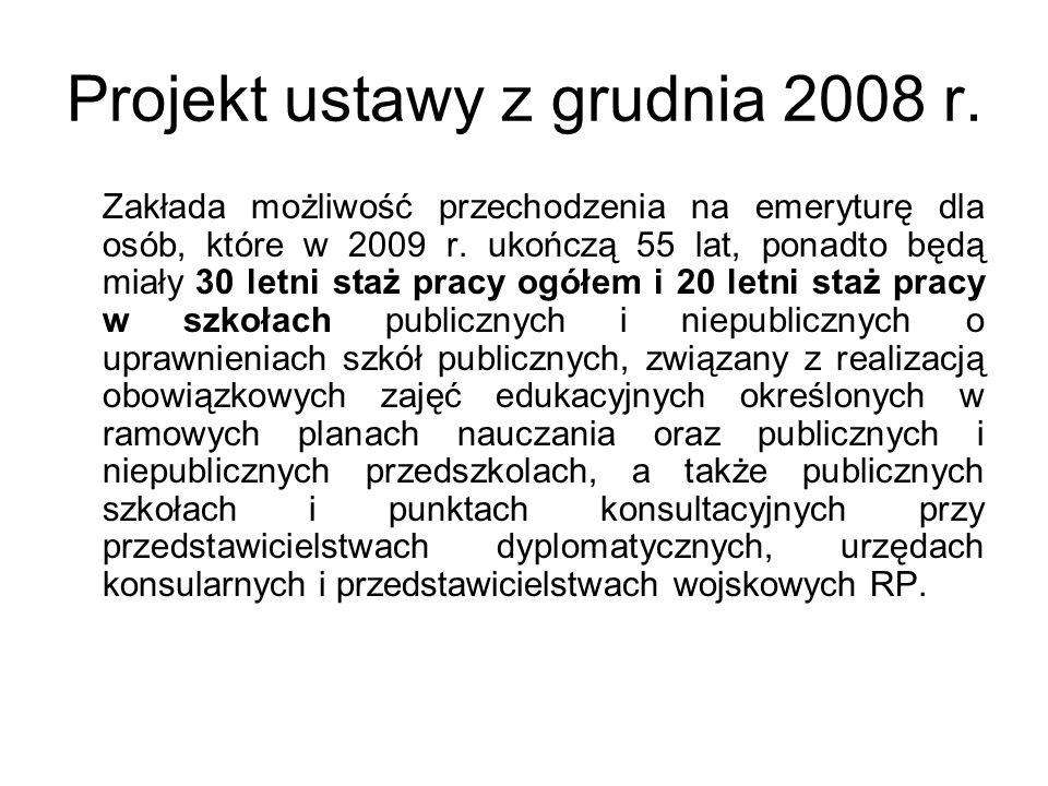 Projekt ustawy z grudnia 2008 r.