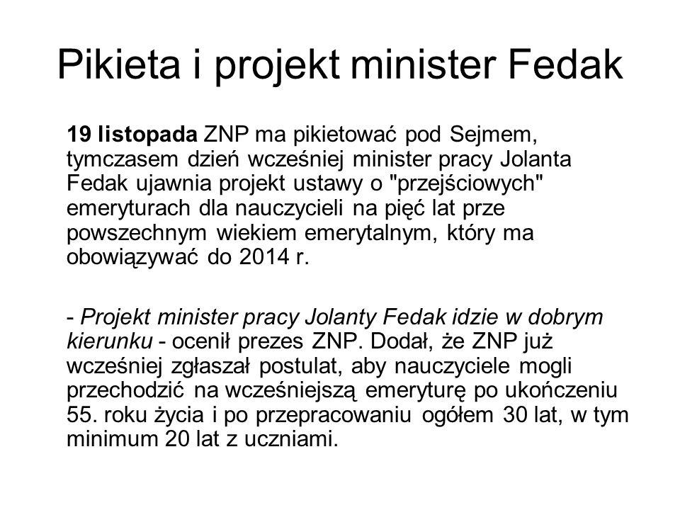 Pikieta i projekt minister Fedak