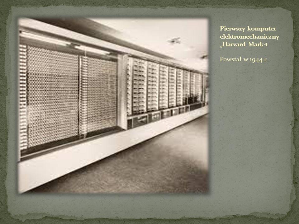 """Pierwszy komputer elektromechaniczny """"Harvard Mark-1"""