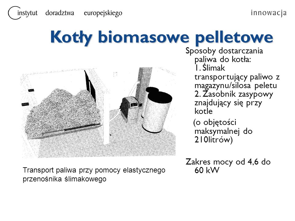 Kotły biomasowe pelletowe