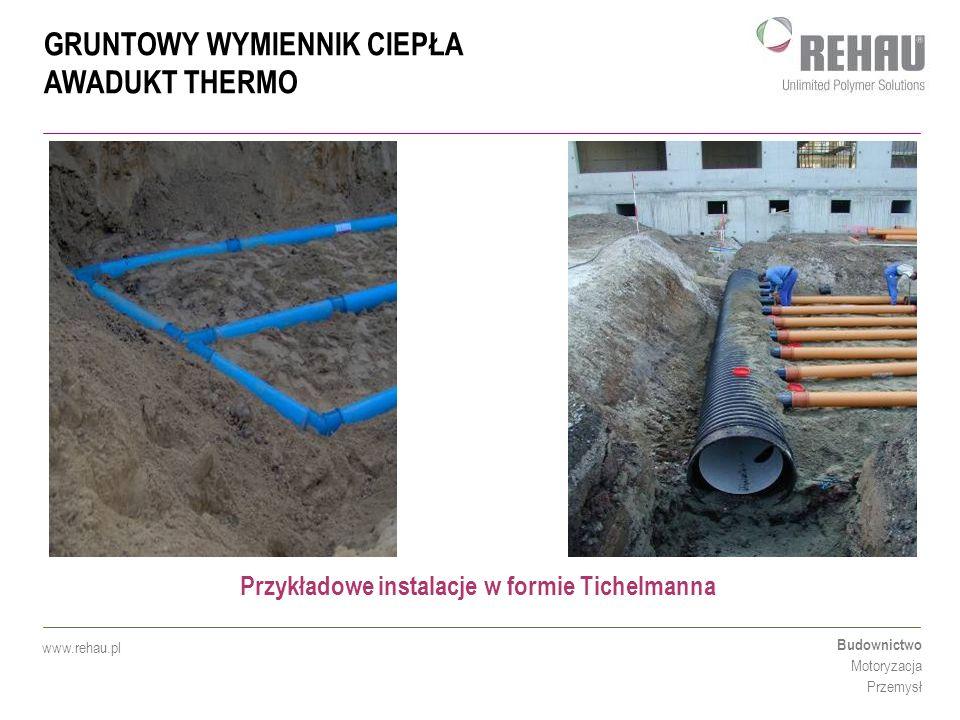 Przykładowe instalacje w formie Tichelmanna