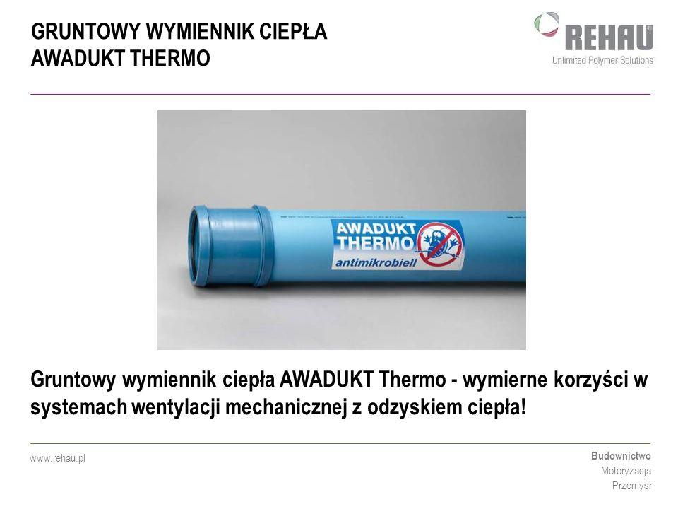 Gruntowy wymiennik ciepła AWADUKT Thermo - wymierne korzyści w systemach wentylacji mechanicznej z odzyskiem ciepła!