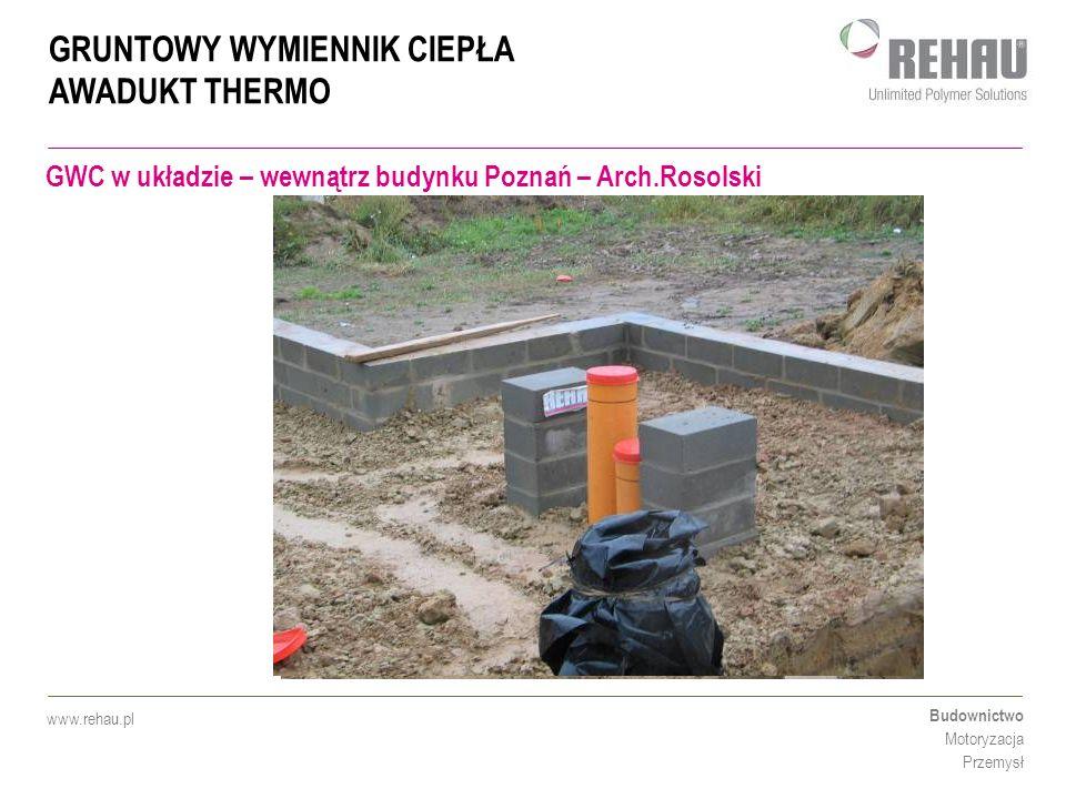 GWC w układzie – wewnątrz budynku Poznań – Arch.Rosolski