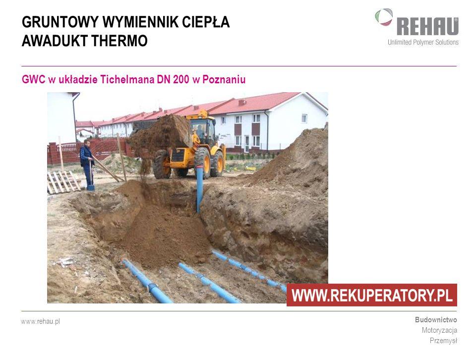 GWC w układzie Tichelmana DN 200 w Poznaniu
