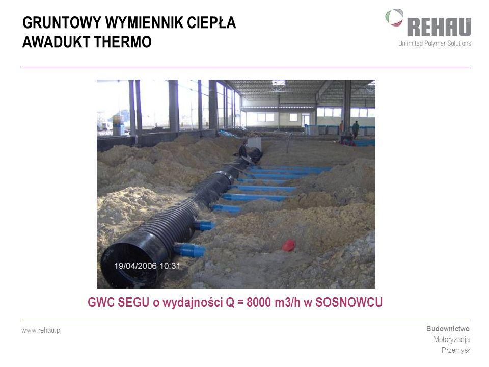 GWC SEGU o wydajności Q = 8000 m3/h w SOSNOWCU