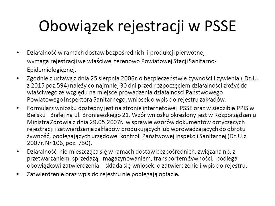 Obowiązek rejestracji w PSSE
