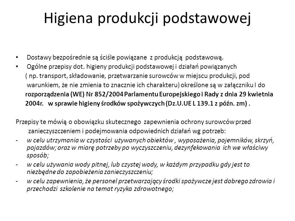 Higiena produkcji podstawowej